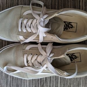 Old skool dusty sage vans size 7.5